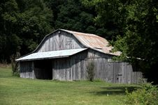 Barn And Trees Royalty Free Stock Photography