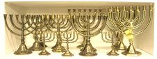 Free Jewish Chandelier Menorah Stock Photos - 2788543