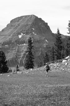 Free Hiking Black And White Stock Image - 2788781