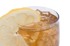 Ice Tea With Lemon Stock Photos