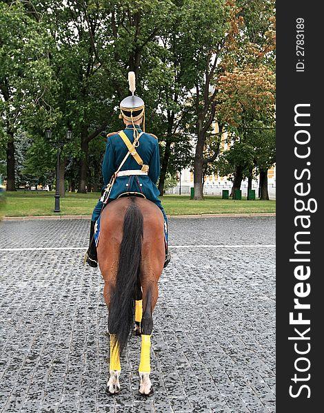 Cavalryman on parade