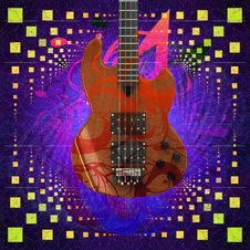 Free Music Background With Guitar Royalty Free Stock Image - 27803666