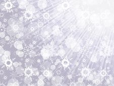 Free Christmas Background With Snowflakes Royalty Free Stock Photo - 27803815