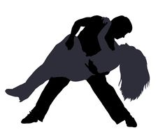 Free Break Dancers Silhouettes Stock Photography - 27805482