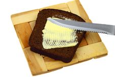Free Black Bread And Butter Stock Photography - 27807562