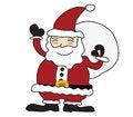 Free Santa Claus  On White Background Royalty Free Stock Photo - 27815715