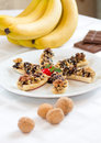 Free Dessert With Bananas And Walnuts Royalty Free Stock Photography - 27816277
