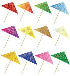 Set Of Cocktail Umbrella