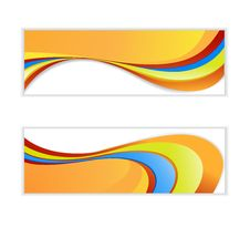 Free Abstract Wave Banner. Stock Photos - 27817003