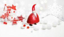 Santa Claus And Stars Ribbon 2 Stock Images