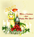 Free New Year 2013 Greeting Card Royalty Free Stock Image - 27821596