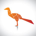 Free Abstract Illustration Of A Bird In Orange Color Stock Photos - 27828173