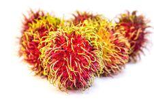Rambutan Fruit From Thailand Royalty Free Stock Photo