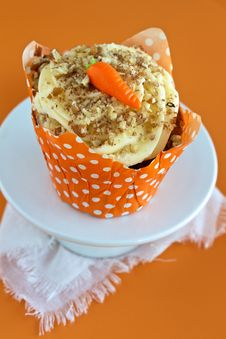 Free Carrot Cake Cupcake Stock Photography - 27820962