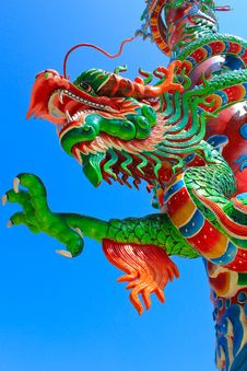 Free Green Dragon Statue Stock Image - 27822321