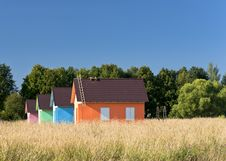 Free Multicolored Houses In The Field Royalty Free Stock Image - 27822476