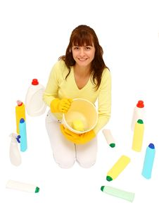Free Woman Cleaning Stock Images - 27823954