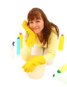 Free Woman Cleaning Stock Photography - 27823972