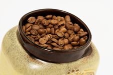 Free Jar Of Coffee Beans Royalty Free Stock Images - 27824469