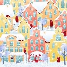 Free Winter Town Stock Images - 27825304