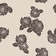 Free Vector Rose Seamless Pattern Royalty Free Stock Photo - 27825795