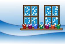 Free Winter Window Stock Image - 27827761