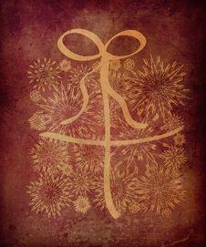 Free Grunge Xmas Gift Box Of Snowflake Royalty Free Stock Photos - 27829478