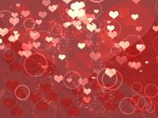 Free Shiny Hearts Royalty Free Stock Photos - 27829498