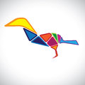 Free Abstract Illustration Of A Colorful Bird In 3d Stock Image - 27830681