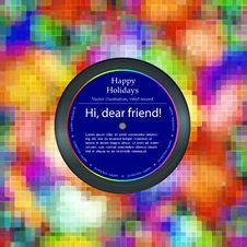 Vinyl Record In The Envelope, Colorful Background Royalty Free Stock Photo