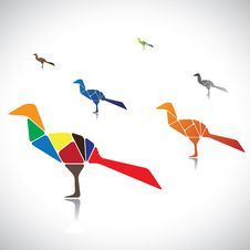 Free Illustration Of A Many Colorful Birds Together Stock Photos - 27831293