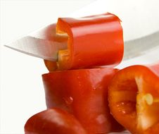Free Detail Blade Knife And Pepper Stock Photo - 27832600