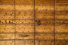 Free Wooden Panels Studded With Nails Royalty Free Stock Photo - 27834155