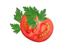 Free Tomato And Parsley Royalty Free Stock Image - 27834806