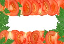 Free Tomato Frame Royalty Free Stock Photography - 27834807