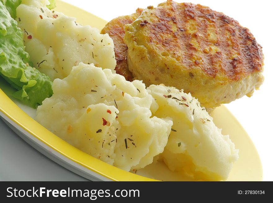 Mashed Potato and Meat Rissoles
