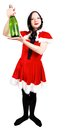 Free Girl With Champagne At Christmas Stock Image - 27848001
