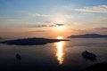 Free Caldera  Santorini Island At Sunset. Stock Photos - 27848683