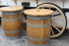 Free Tables Barrels Royalty Free Stock Photos - 27848528