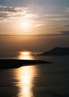 Free Caldera Santorini Island At Sunset Royalty Free Stock Images - 27848689
