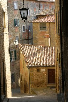 Medieval Street In The Italian Royalty Free Stock Images