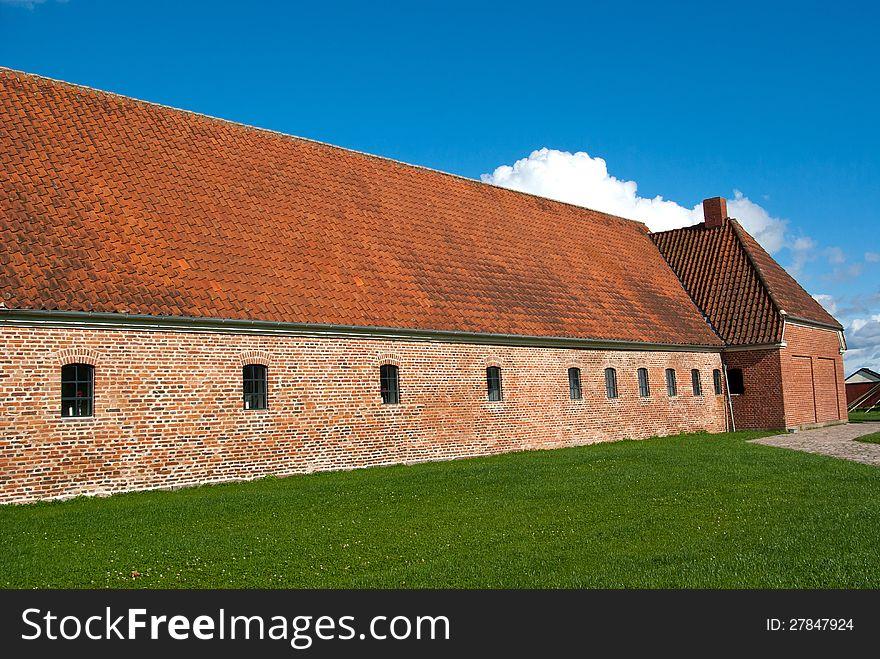 Old farm horse stable Denmark