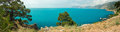 Free Panoramic Views Of The Bay Of The Black Sea Royalty Free Stock Photography - 27856437