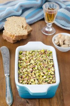 Free Chicken Liver Pate With Pistachios Stock Images - 27850334