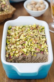 Free Chicken Liver Pate With Pistachios Close Up Royalty Free Stock Image - 27850336