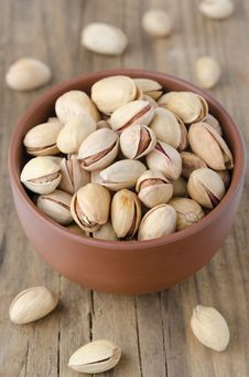 Free Closeup Of A Bowl Of Pistachio Nuts Stock Photos - 27850433