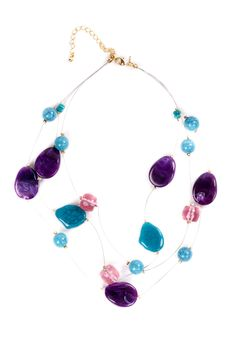 Free Necklace With Colored Stones Stock Photos - 27853743