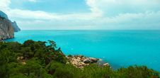 The View From The Mountains To The Black Sea Royalty Free Stock Photos