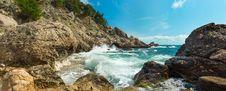 Free The Storm On The Rocky Coast Stock Photo - 27856510