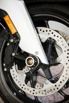 Free Motorcycle Wheel Stock Image - 27859651